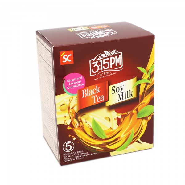 3:15pm Milk Tea – Black Tea Soy Milk (5 bags)