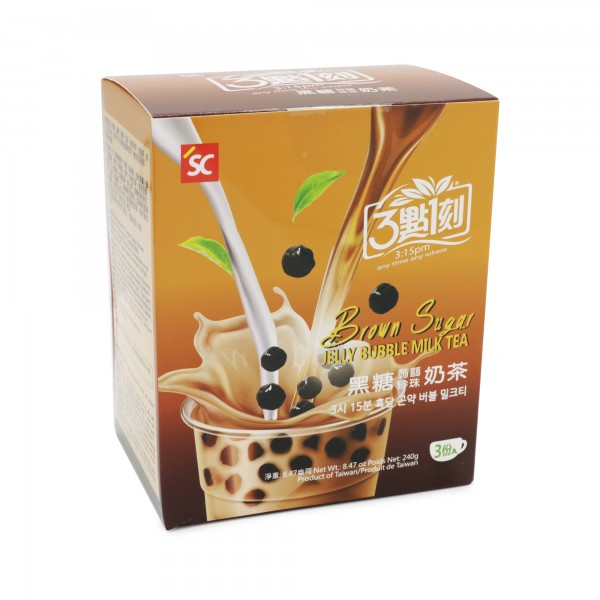 3:15pm Milk Tea – Brown Sugar Bubble Tea (3 servings)