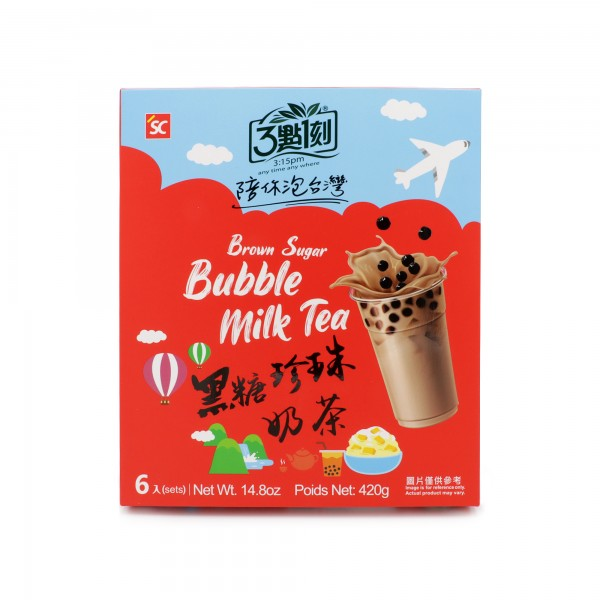 3:15pm Milk Tea – Brown Sugar Bubble Tea (6 servings)