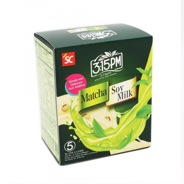 3:15pm Milk Tea – Matcha Soy Milk Tea (5 bags)