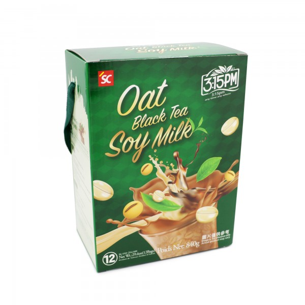 3:15pm Milk Tea – Oat Black Tea Soy Milk (12 bags)