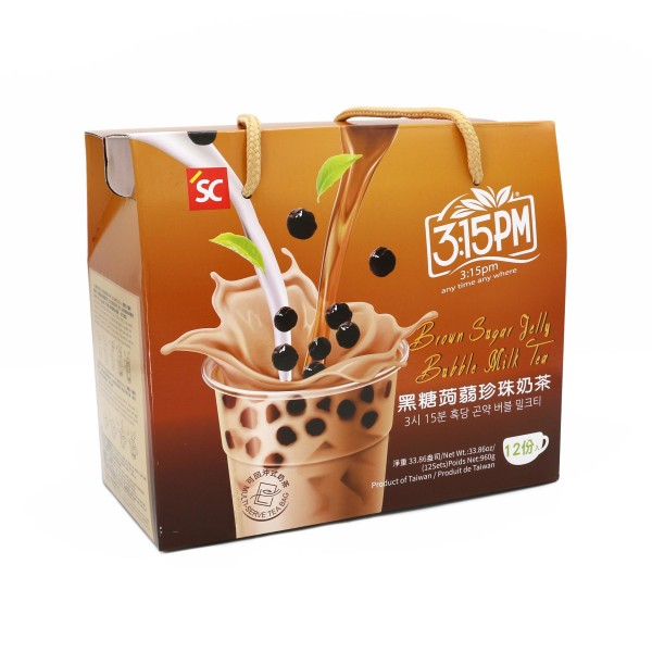 3:15pm Milk Tea – Brown Sugar Jelly Bubble (12 bags)