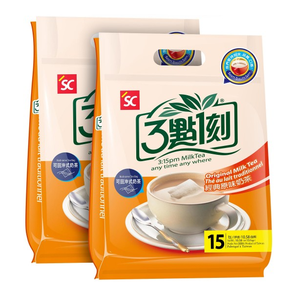 3:15pm Milk Tea – Original Flavor 2-pack (30 bags)