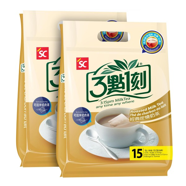 3:15pm Milk Tea – Roasted Flavor 2-pack (30 bags)
